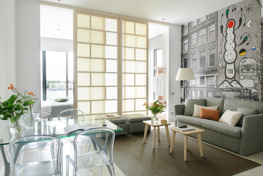 Ein Sitzbereich in der Unterkunft Eric Vökel Boutique Apartments - Amsterdam Suites