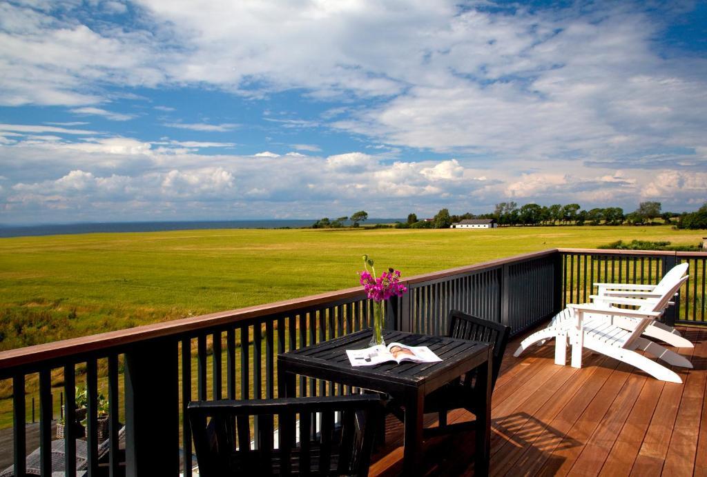 En terrasse eller udendørsområde på Ilse Made - Hotellet ved Kilden