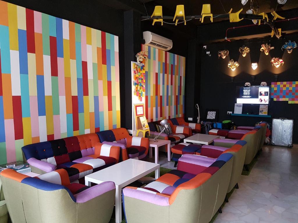 Lounge oder Bar in der Unterkunft The Bohemian