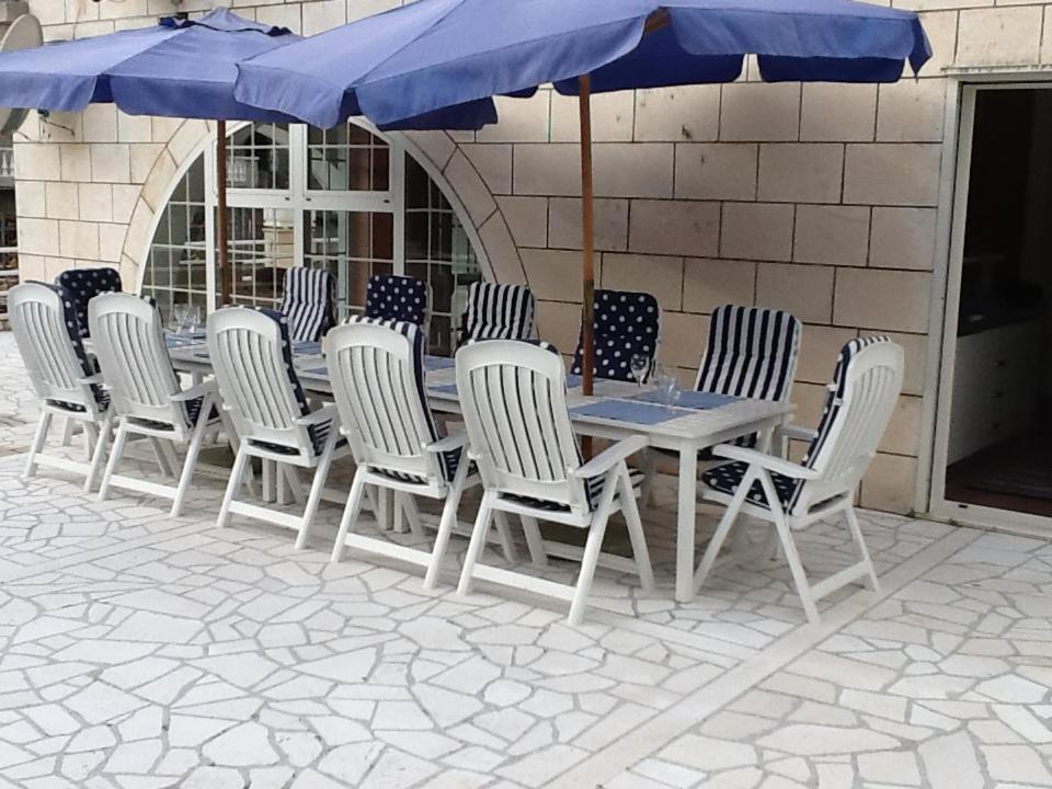 A patio or other outdoor area at Villa Bisou