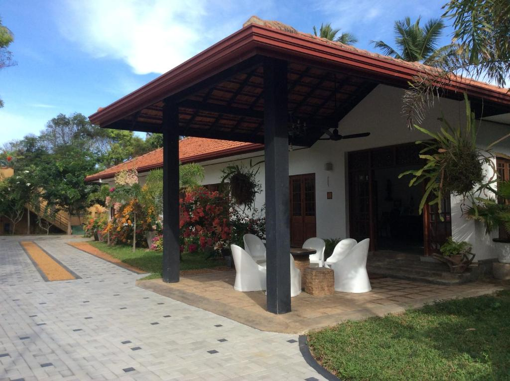 A patio or other outdoor area at Abeysvilla