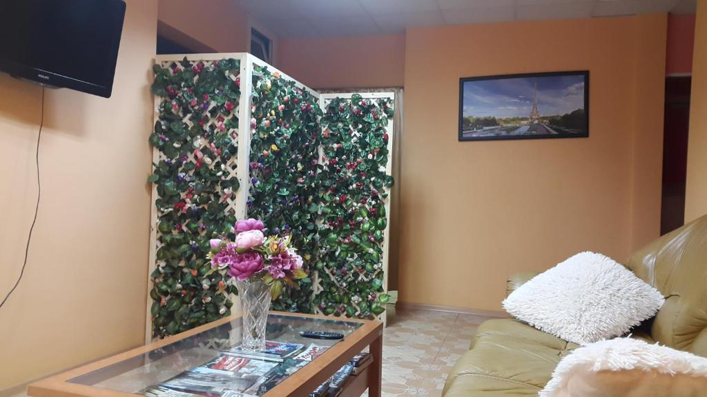 Гостиная зона в Хостел «Белая дача»