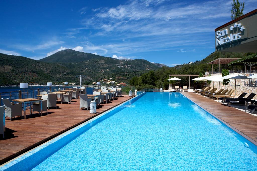 The swimming pool at or near San Nicolas Resort Hotel