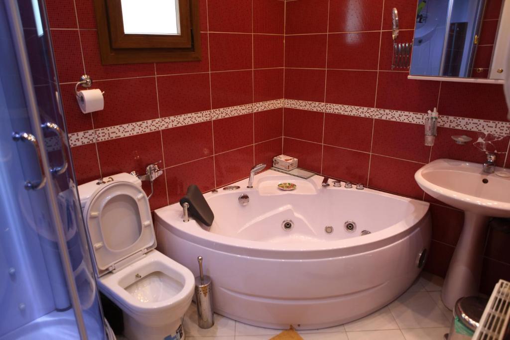 A bathroom at George's Villa