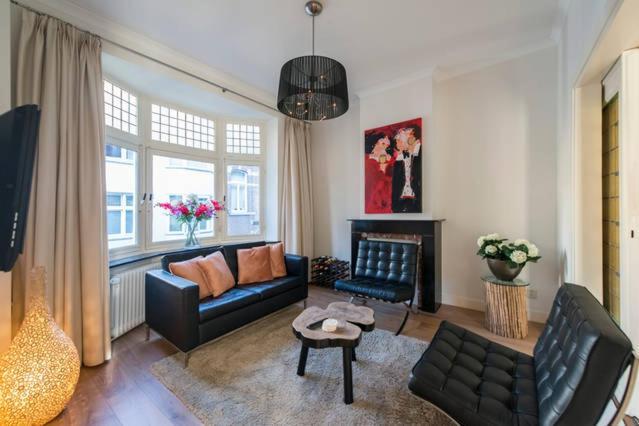 Posezení v ubytování Beau City Apartment Maastricht