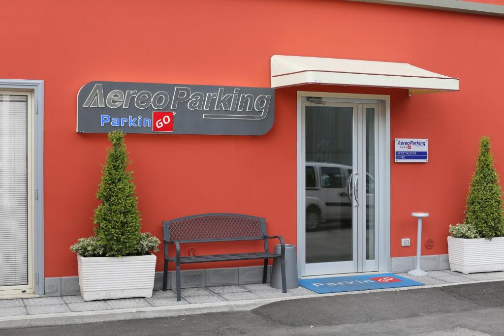 Patio o area all'aperto di Bed and Breakfast Aereoparking