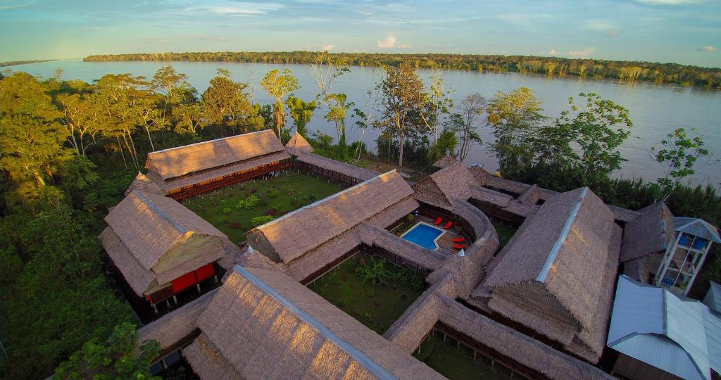 A bird's-eye view of Heliconia Amazon River Lodge
