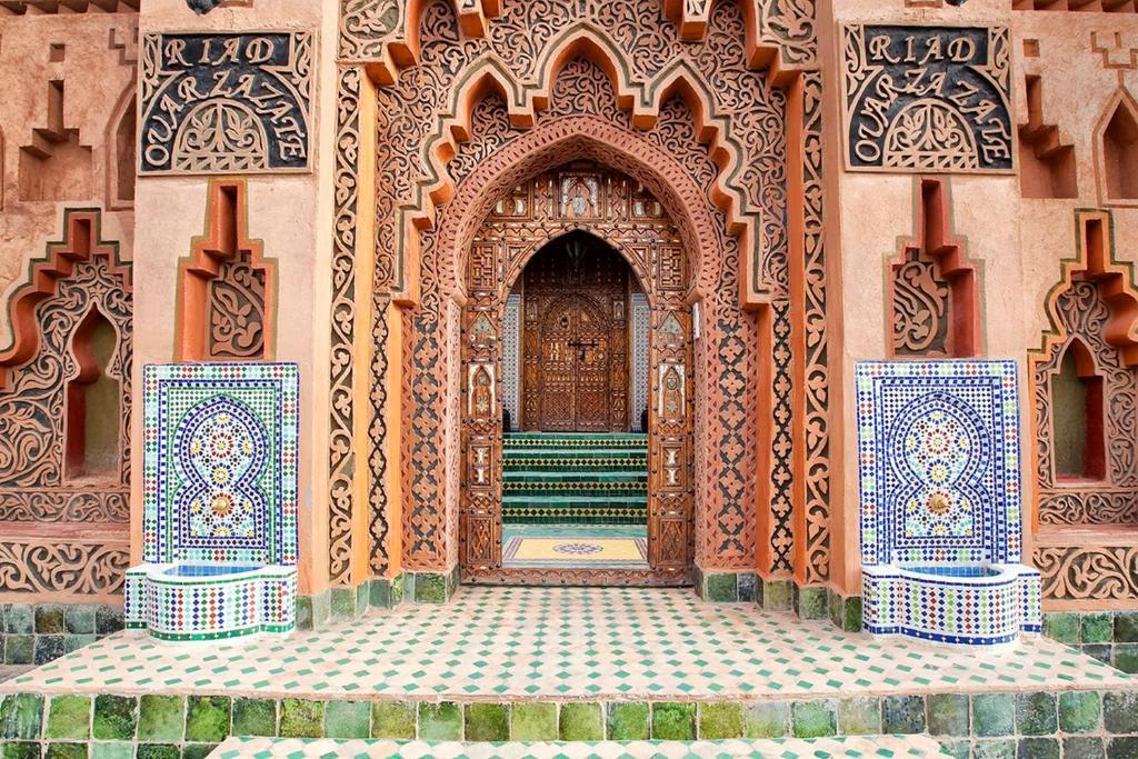 De façade/entree van Riad Ouarzazate