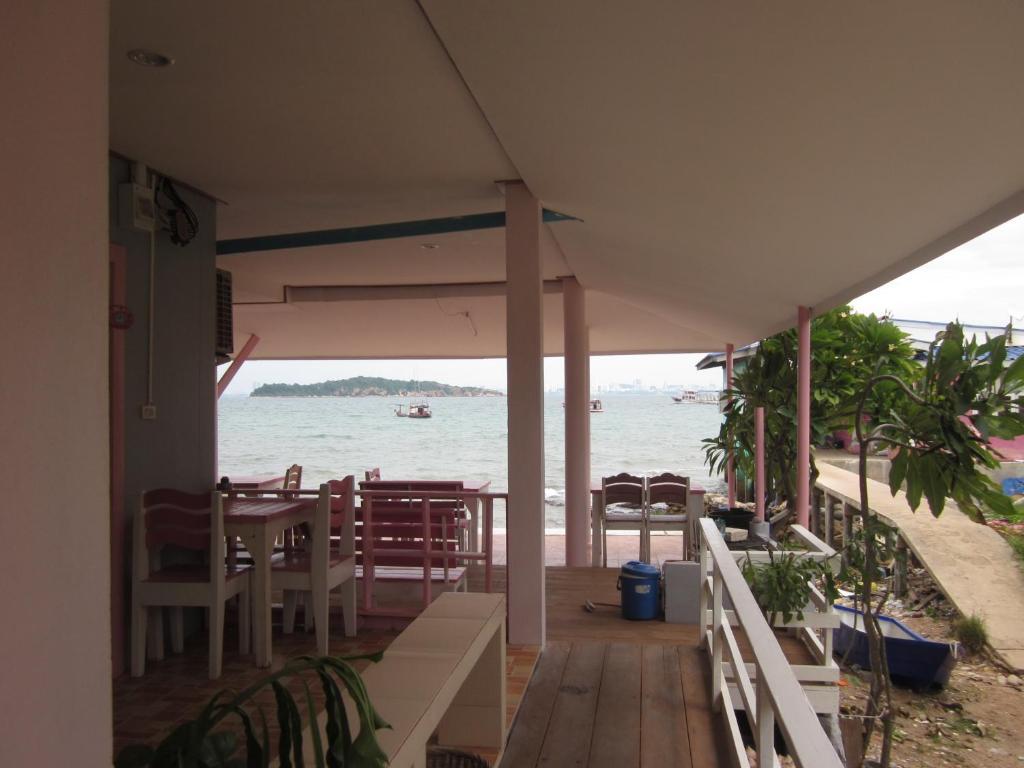 Ein Balkon oder eine Terrasse in der Unterkunft Toonja Kohlarn