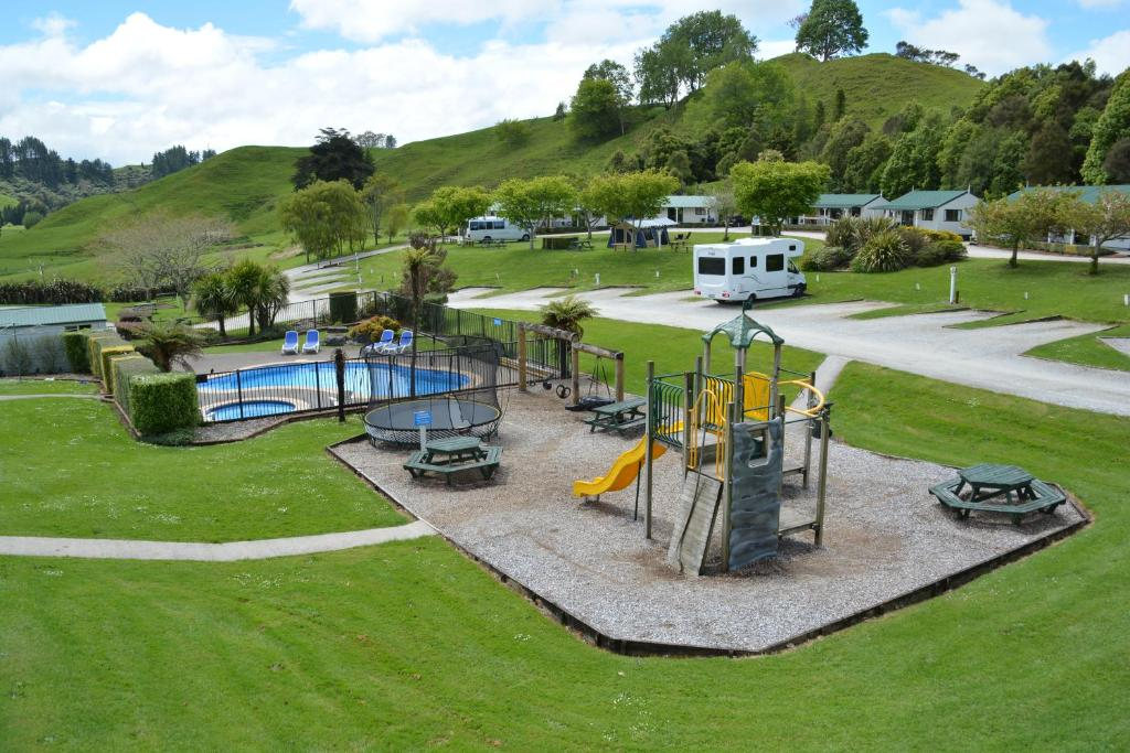 A view of the pool at Waitomo TOP 10 Holiday Park or nearby