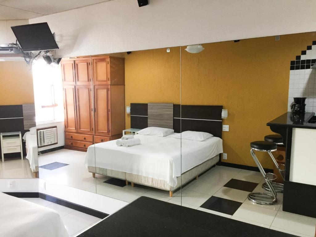 Cama ou camas em um quarto em Rio Habitat - Rubilite