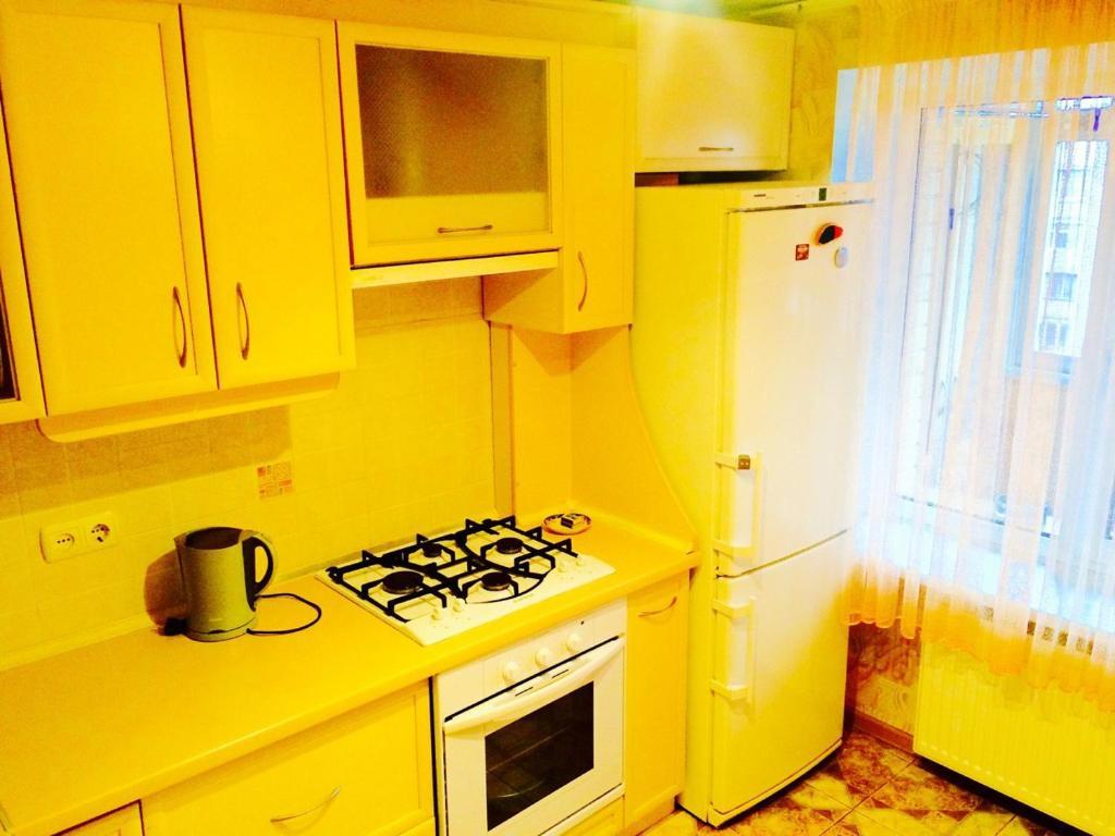 A kitchen or kitchenette at Apartment on Shevchenka Boulevard