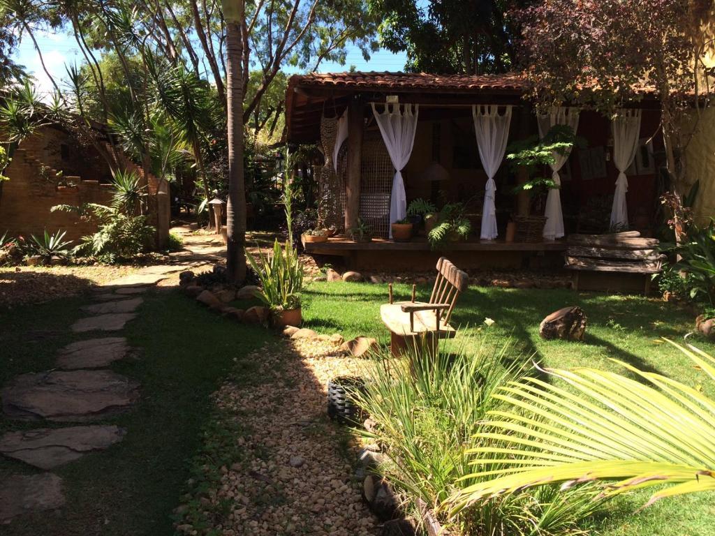 Um jardim em Pousada Bambu Brasil