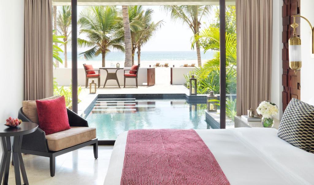A seating area at Al Baleed Resort Salalah by Anantara