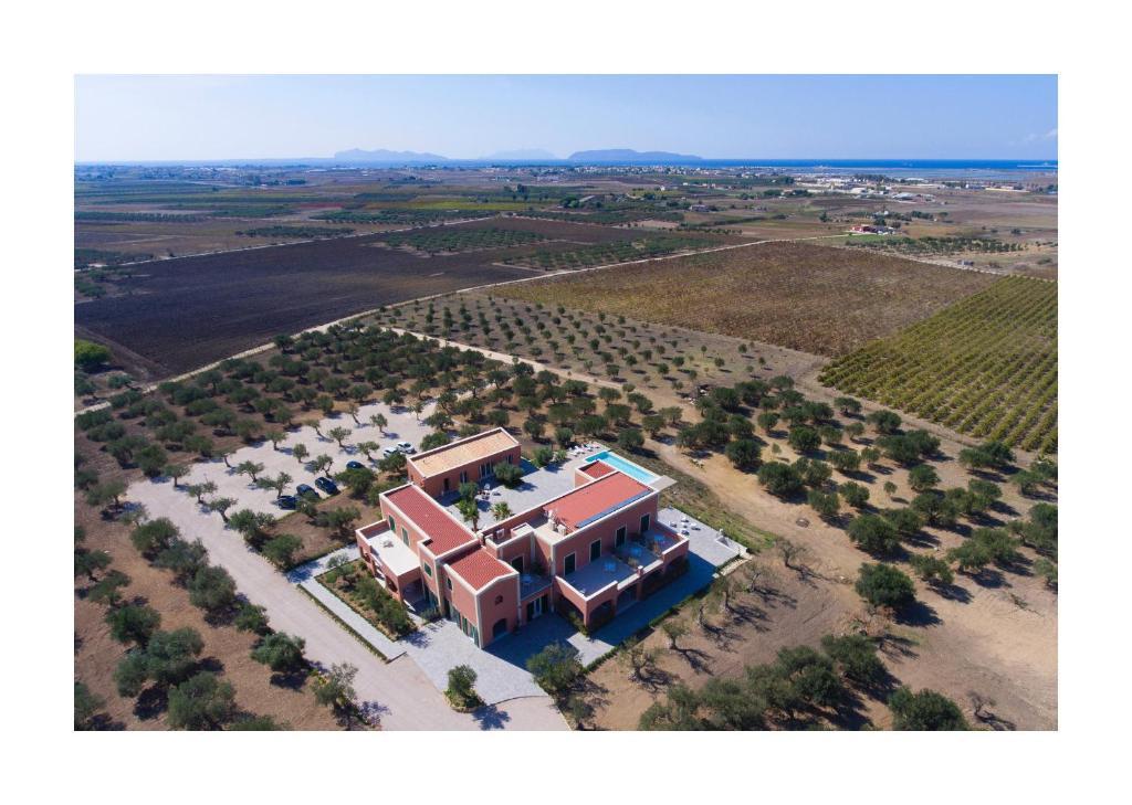 Vista aerea di Corte Olea Resort