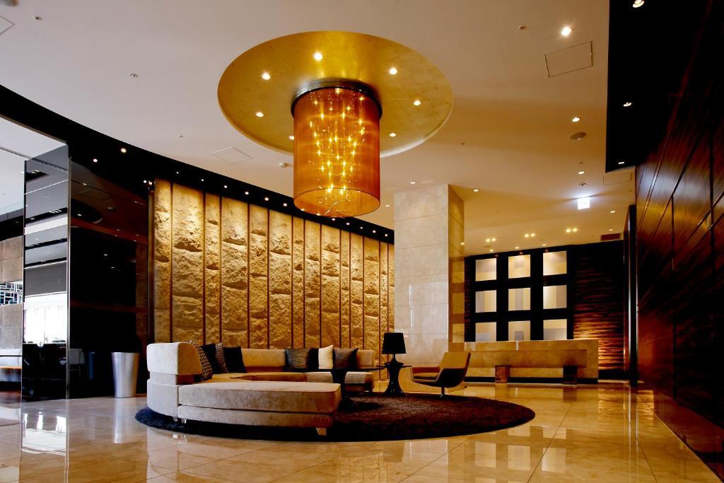The lobby or reception area at Hotel Trusty Osaka Abeno