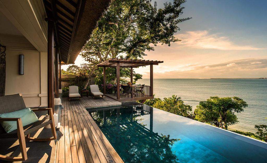 The swimming pool at or near Four Seasons Resort Bali at Jimbaran Bay