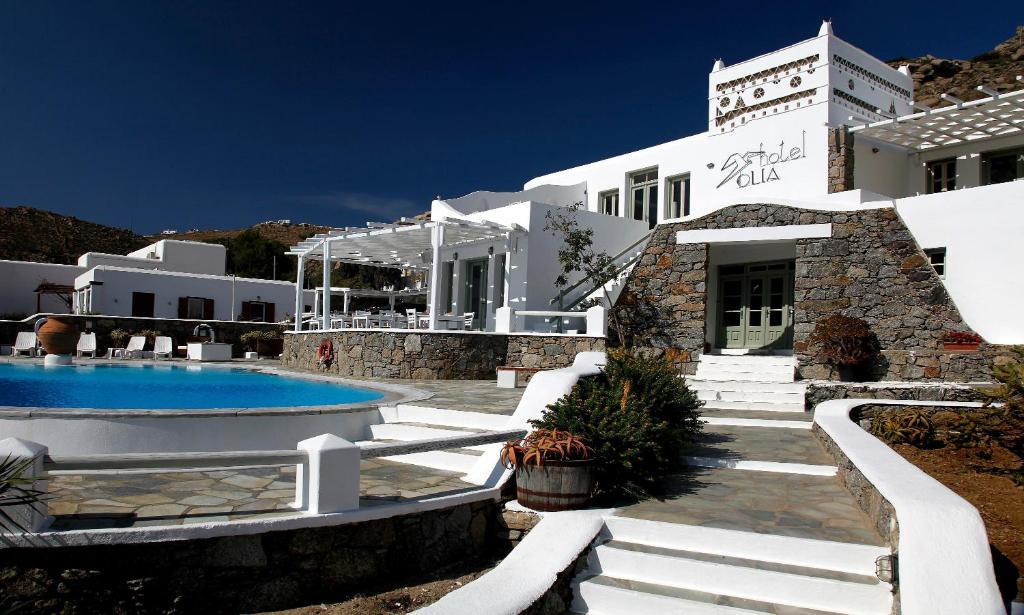 The swimming pool at or near Olia Hotel