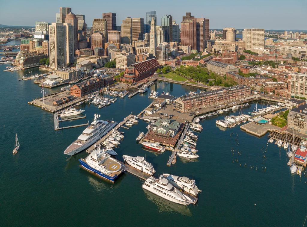 A bird's-eye view of Boston Yacht Haven