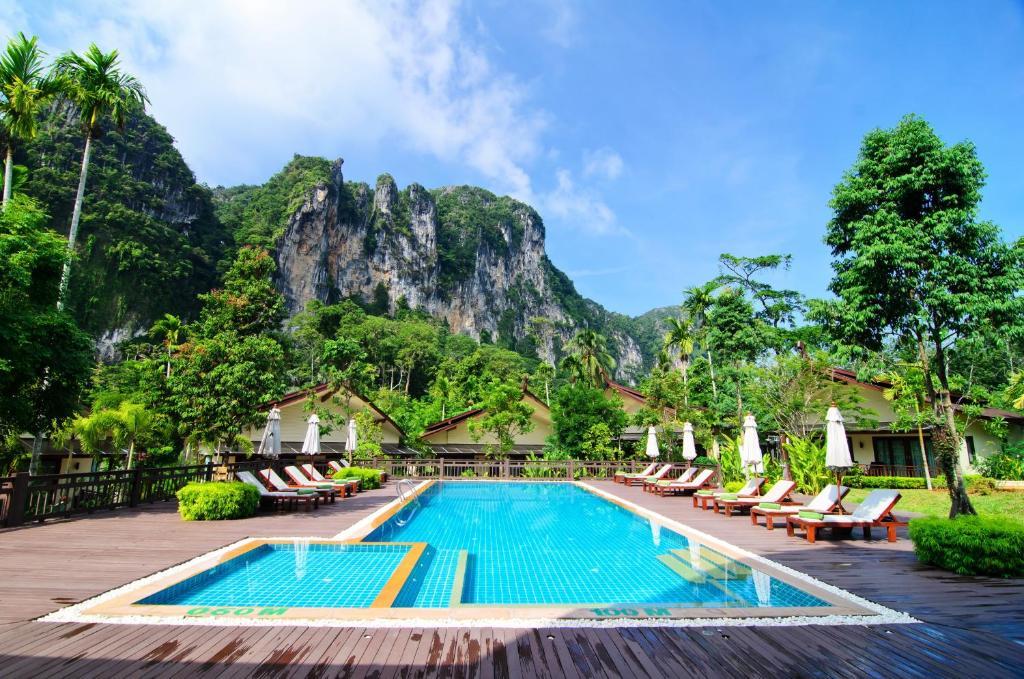 The swimming pool at or near Aonang Phu Petra Resort, Krabi