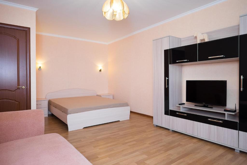 Кровать или кровати в номере Moskva4you на Пионерской
