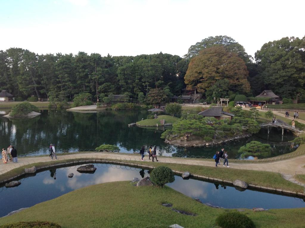 A view of the pool at Okayama Plaza Hotel or nearby