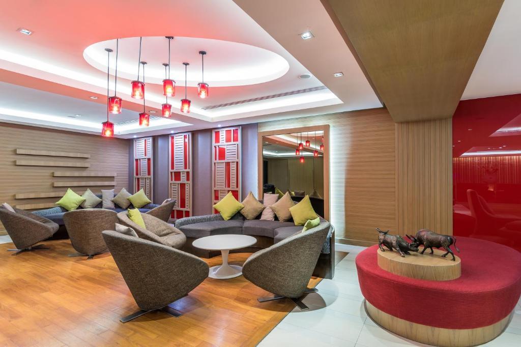 The lounge or bar area at Hi Residence, Bangkok