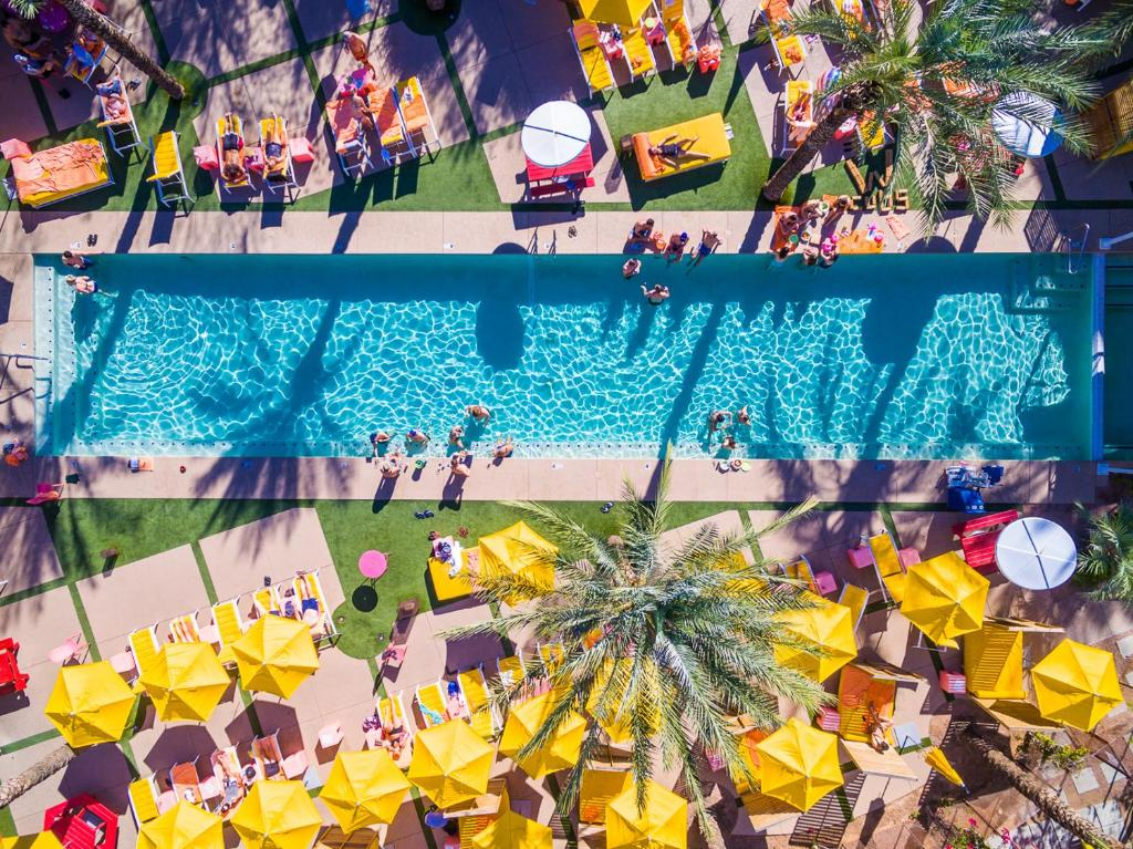 A view of the pool at The Saguaro Scottsdale or nearby