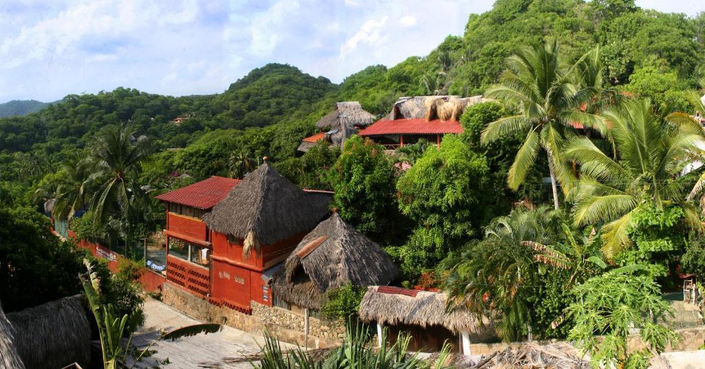 Villa Escondida a vista de pájaro