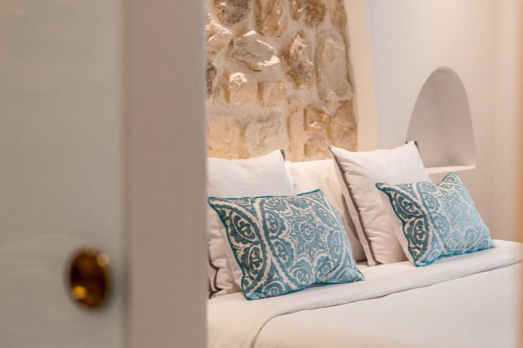 Cama o camas de una habitación en Hotel Abaco Altea