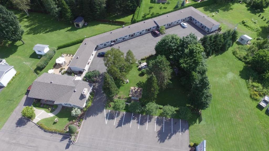 Motel La Cheminée с высоты птичьего полета