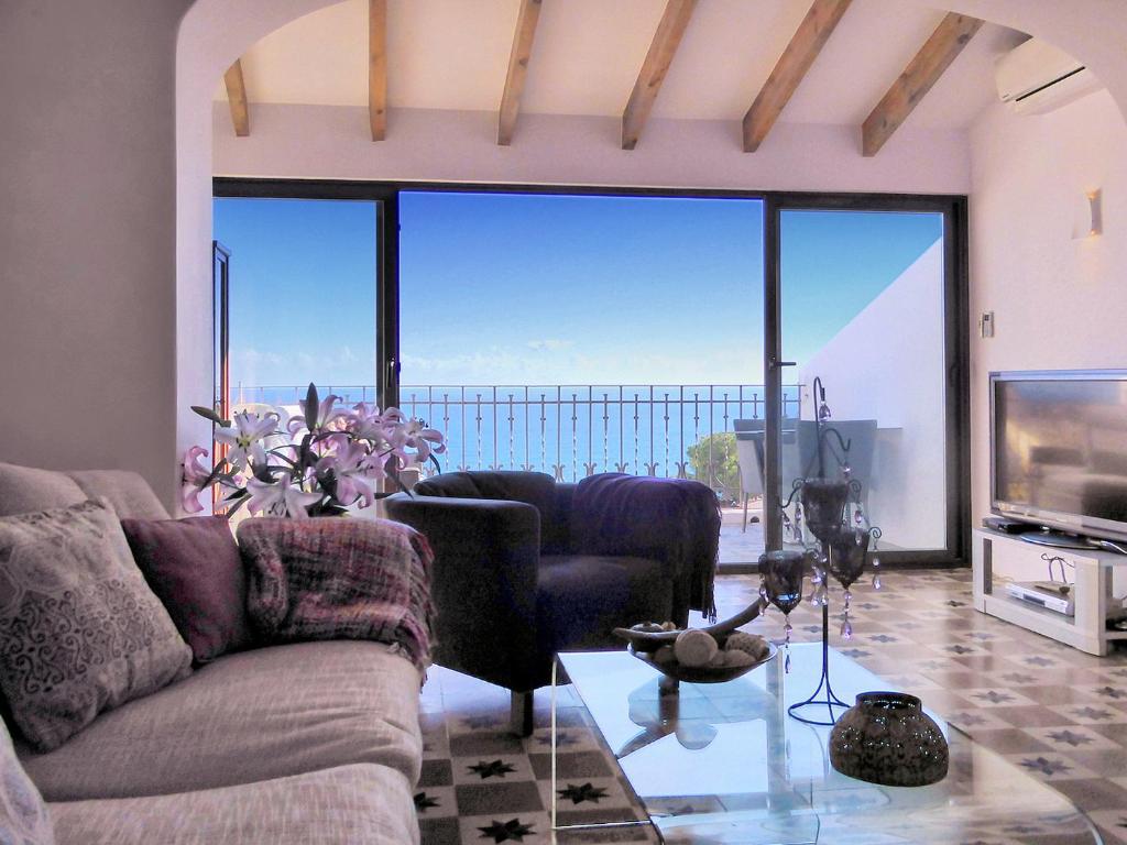 Zona de estar de Altea Town House Deluxe Sea View
