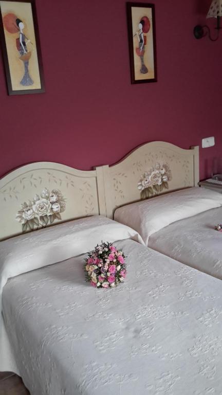 Cama o camas de una habitación en Casa de La Paca