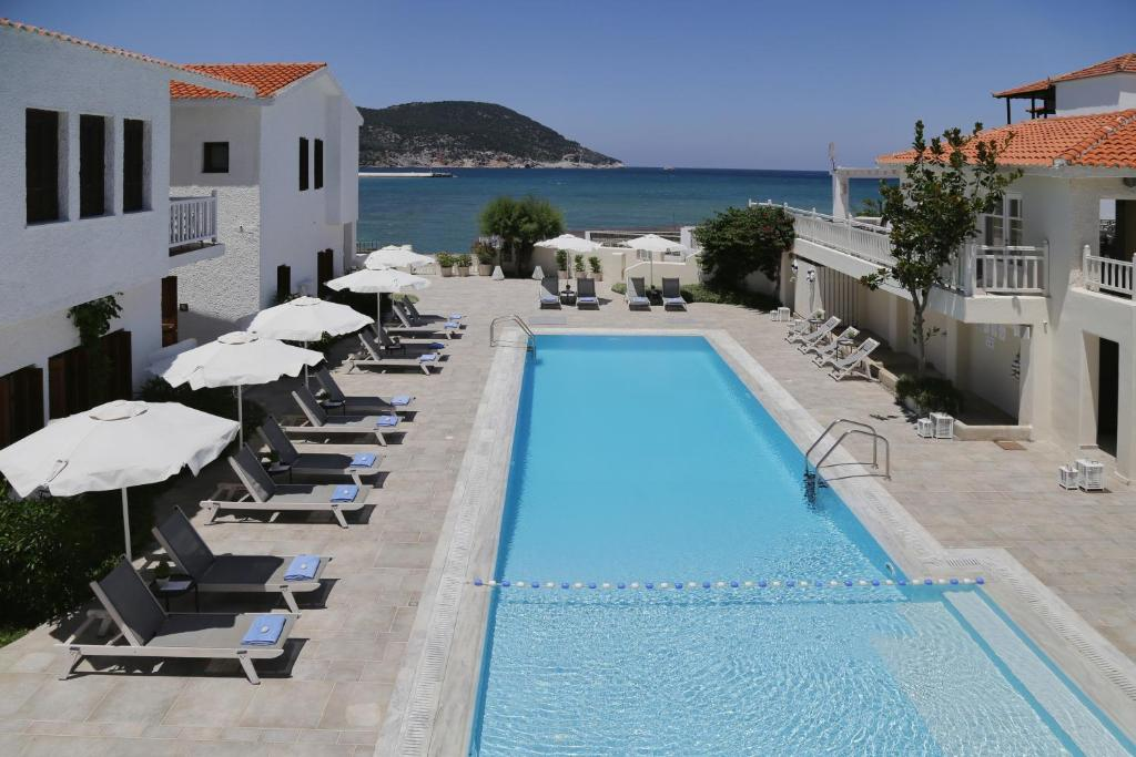 The swimming pool at or near Skopelos Village Hotel
