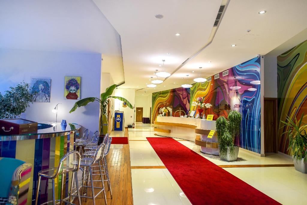 The lobby or reception area at Marshal Garden Hotel