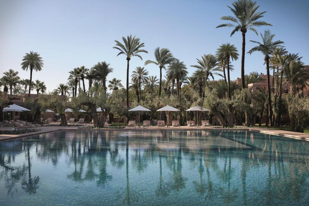 The swimming pool at or close to Royal Mansour Marrakech