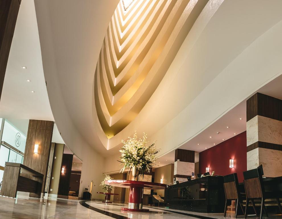 The lobby or reception area at Hotel Dunamys