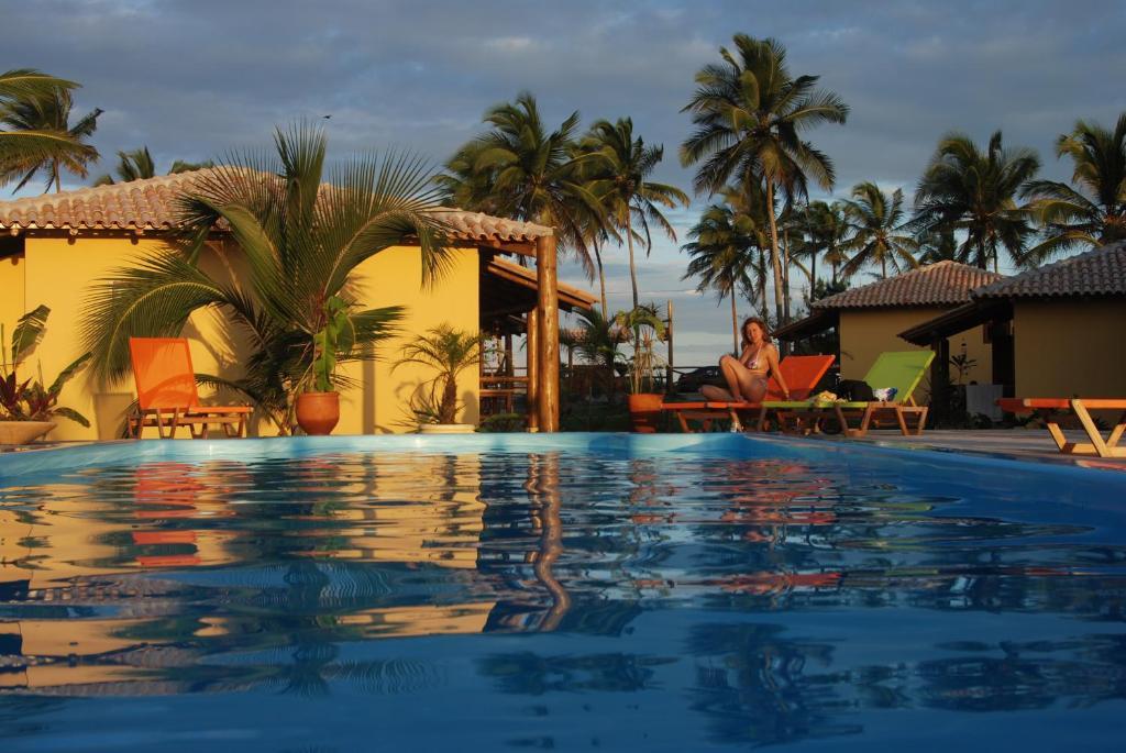 Der Swimmingpool an oder in der Nähe von Bahiadomizil