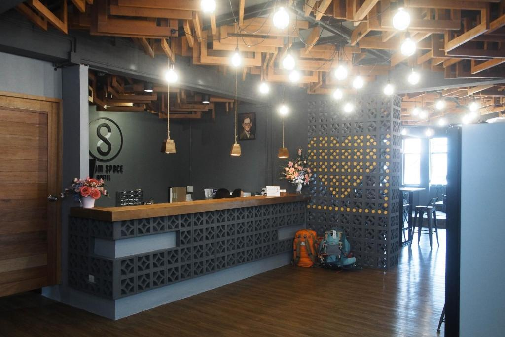 The lobby or reception area at Silom Space Hostel