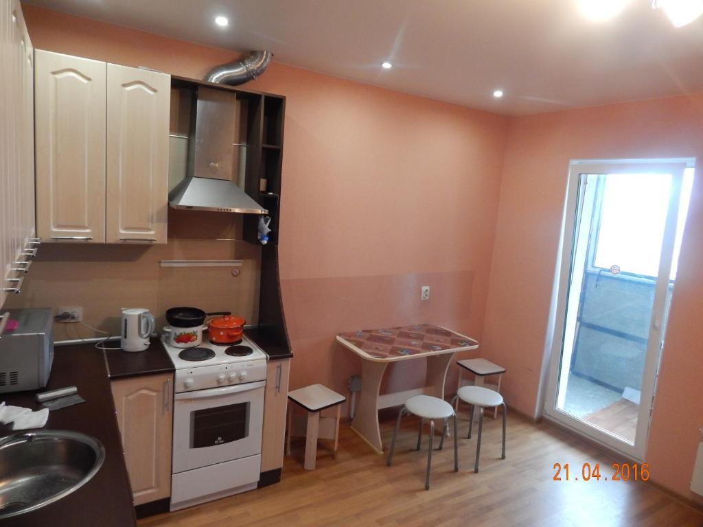 Кухня или мини-кухня в Apartment on Lososinskoye Shosse 38