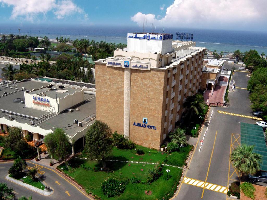 Uma vista aérea de Al Bilad Hotel