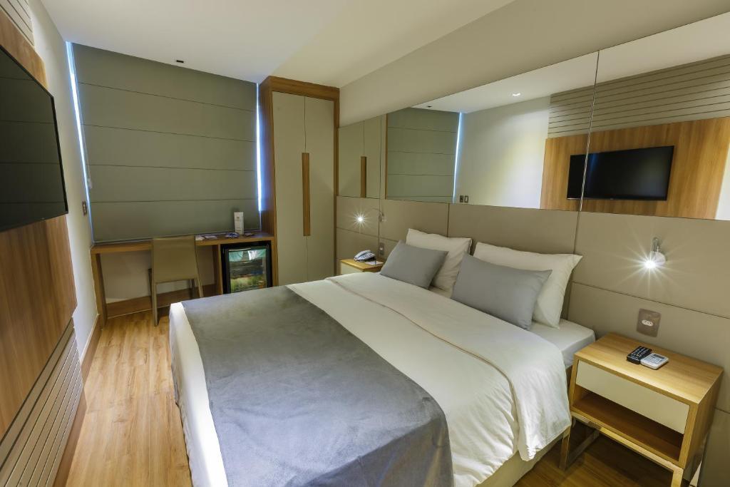 Un ou plusieurs lits dans un hébergement de l'établissement Hotel Atlântico Travel Copacabana