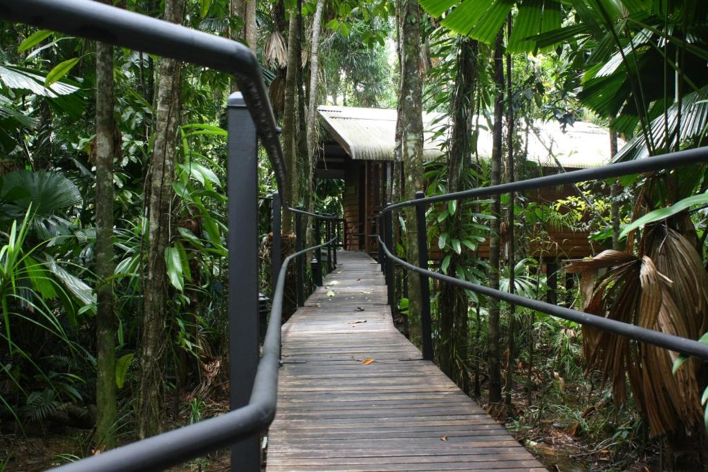 A balcony or terrace at Daintree Wilderness Lodge