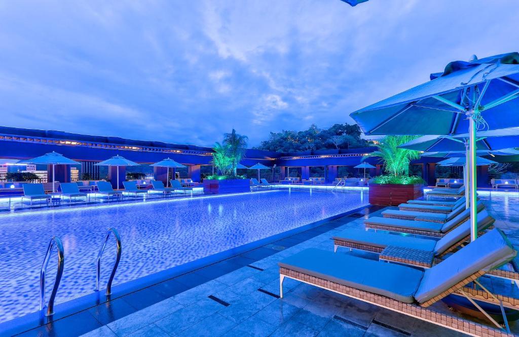 The swimming pool at or near Hilton Kota Kinabalu