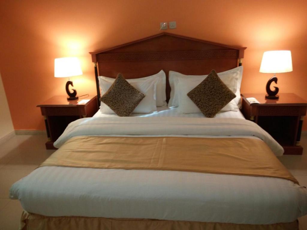 Cama ou camas em um quarto em Boudl Bondoqia
