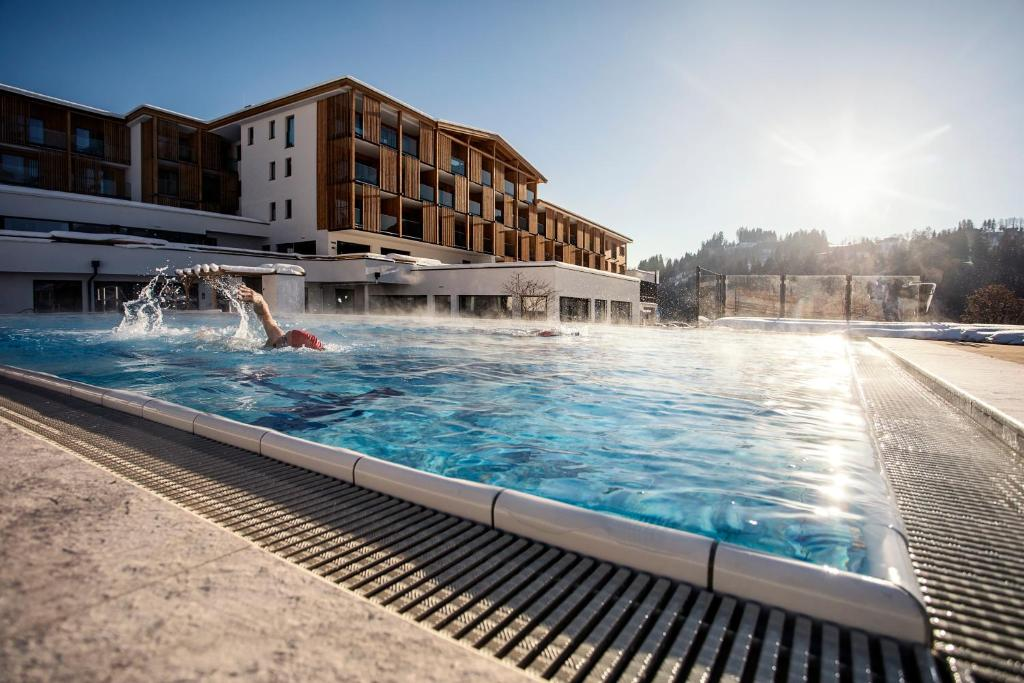 The swimming pool at or near Sportresort Hohe Salve