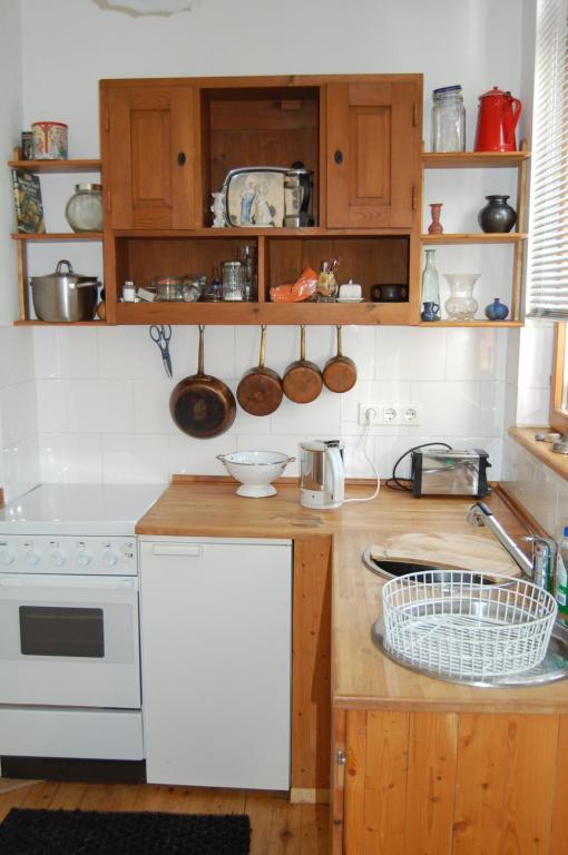 Küche/Küchenzeile in der Unterkunft Geigenbauer-Häuschen