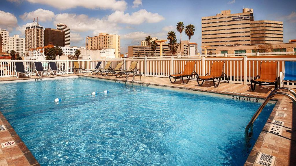 The swimming pool at or near Best Western Corpus Christi