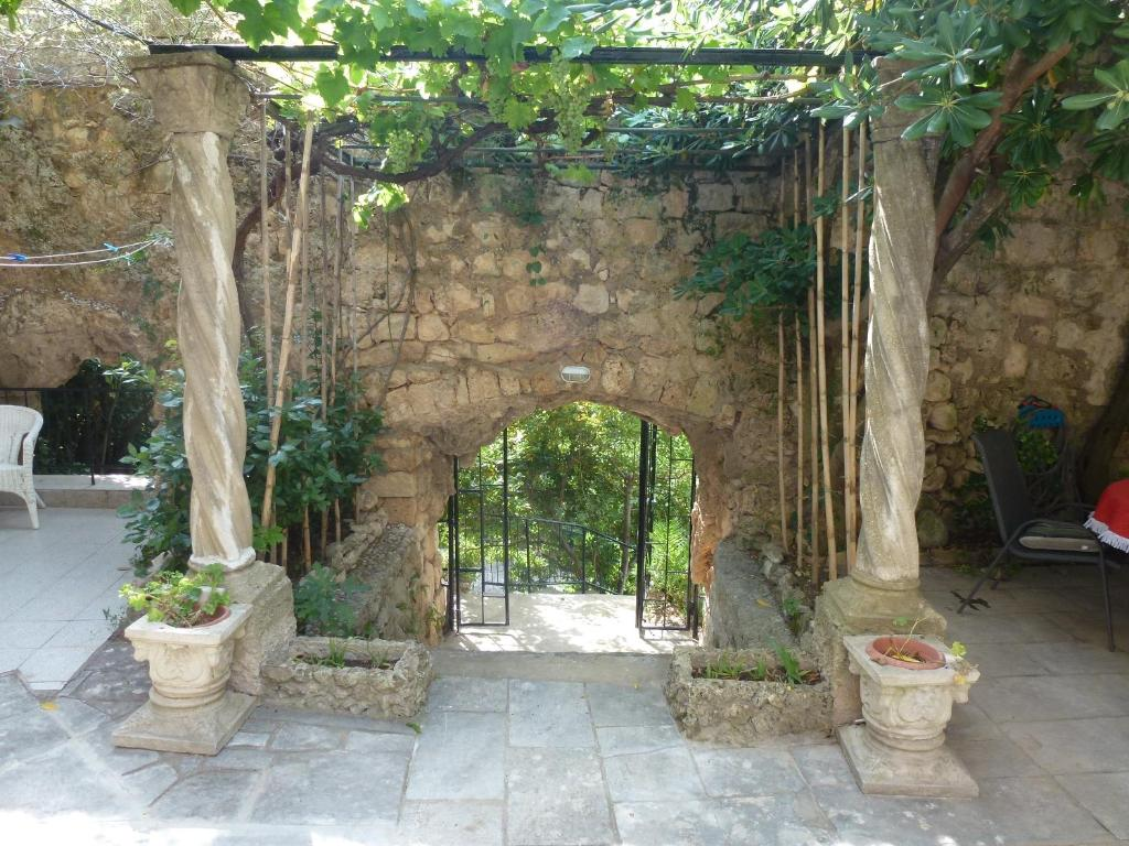 A garden outside Villa Fede