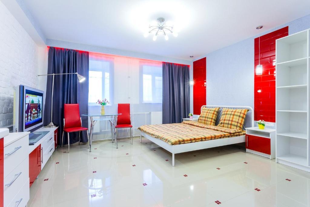 Гостиная зона в Апартаменты на Лесном 3 #5